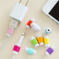 10PC USB Cables Protector Saver Cover for iPhone Lightning Charger Cord BN