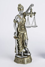 Justizia Skulptur Göttin der Gerechtigkeit mit Waage und Schwert Justicia 28cm