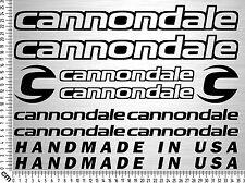 CANNONDALE Set 1   Fahrrad Rahmen Aufkleber   Bike Frame Sticker   12 Decals