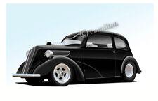 Ford Pop Popular Anglia 103e V8 Hot Rod Fridge Magnet ** Black **