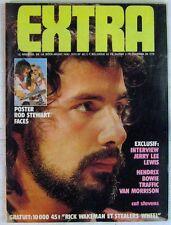 "Revue EXTRA Mai 1974 Cat Steve""ns Hendrix Bowie Traffic Van Morrison"