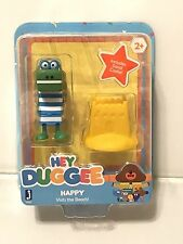 "~ HEY DUGGEE ~  HAPPY With Sand Castle  3"" Figure NIP New! Sealed"