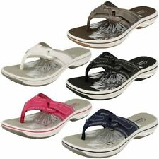 Clarks Flip Flops Synthetic Sandals & Beach Shoes for Women