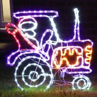 fc95fd9114e Plug In Outdoor LED Rope Light Santa Silhouette Decoration Christmas