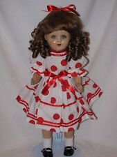 """22"""" Vintage Composition/Cloth Body Doll Display Ready"""