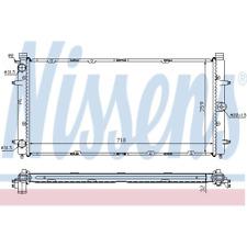 Refrigeración Del Motor Radiador - Nissens 65273A