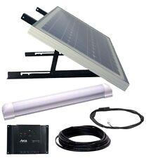 PANNELLO SOLARE LUCE KIT proceso uno LED 30W/12V, 450 LM, Steca Solsum 6.6 & Cavi