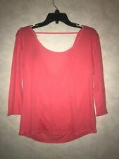American Eagle Womens Pink 3/4 Sleeve Slouchy Back Shirt Size XS NWT