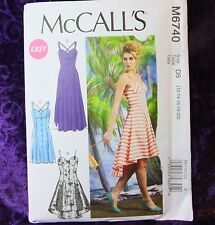 McCall's M6740 Sewing Pattern Misses' Flared Long/ Short Dress 4 looks 14-22 New