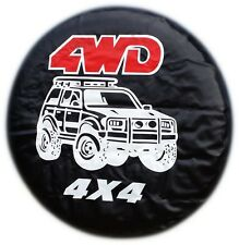 4X4 TYRE COVER 4WD SPARE WHEEL TIRE REAR COVER HONDA SUZUKI LAND ROVER