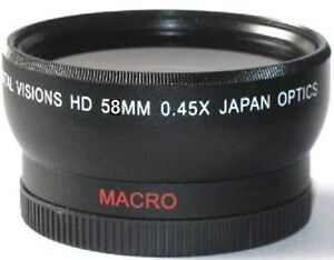 Digital Vision 58mm 0.45x Pro HD Wide Angle Conversion Lens