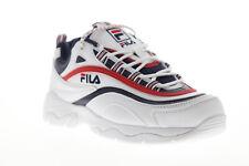 Fila Fila Ray 1CM00501-125 Branco Masculino casual com renda nas baixas Tênis Top