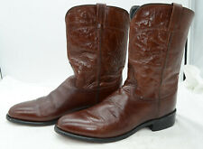 Old West Jama Men's Corona Roper Boots Sz 12 Leather Western Cowboy Riding Work