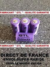 4 Piles 16340 3.7V 2300mAh Rechargeable Mignon - GTL - TRES PUISSANT - DE FRANCE