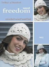 Twilleys Crochet Pattern 9012 Ladies Scarf & Lacy Beanie Hat Super Chunky New