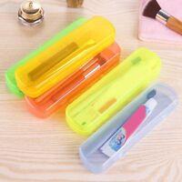 Portable Travel Bathroom Toothbrush Holder Tube Plastic Cover Protect Case UK