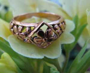 Copper Ring CR2609 - 3/8 of an inch -  Available in sizes 6 thru 9.