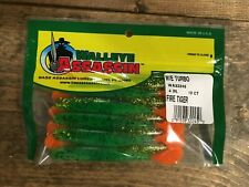 "Bass Assassin / Walleye Assassin Turbo Shad, 4"", 10/pk,  WA32245, Fire Tiger"