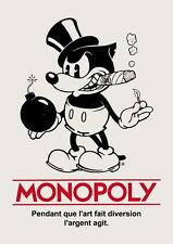 Old Print. Monopoly - Mickey Mouse Bomb