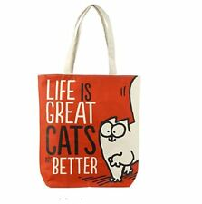SIMONS CAT CATS BETTER COTTON TOTE SHOPPER SHOULDER SHOPPING BAG NEW WITH TAGS