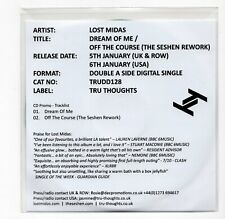 (IW129) Lost Midas, Dream Of Me / Off The Course - 2015 DJ CD