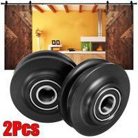 2Pcs POM Sliding Barn Wooden Door Wheel Closet Hardware Track Roller   @ P □□