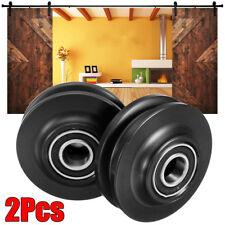 2Pcs POM Sliding Barn Wooden Door Wheel Closet Hardware Track Roller Window