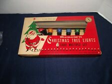 Vintage Renown Christmas Tree Lights 7 Light Set works