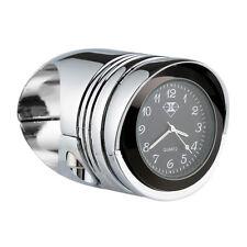 """Chrome 1.25"""" Handlebar HandleBars Mount Clock Fit For Honda Yamaha Harley Custom"""