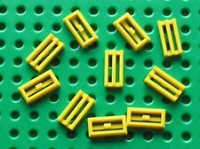 10 x LEGO yellow Tile 1 x 2 Grille 2412b / Set 7939 7775 4559 7744 8037 8169...