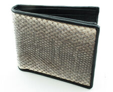 NEW GENUINE CANTOR'S WATER SNAKE BACK SKIN MEN BI-FOLD WALLET FREE SHIPPING.