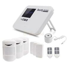 Home Office Security Alarm System Wireless GSM IOS Android APP Controlled White
