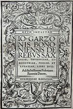 GESCHICHTE SACHSEN MEISSEN GARZONI De rebus Saxoniae FRIEDRICH DER WEISE 1518