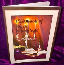 HANDBOOK OF BLACK WITCHCRAFT Carl Nagel Finbarr Grimoire Magic Spells Occult