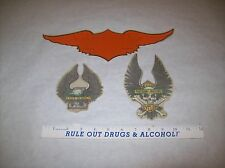 Vintage motorcycle LOT OF 3  Inside Window Decal. Harley style Sticker USA HD