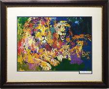 "LeRoy Neiman ""Lions Pride"" HAND SIGNED Lithograph Newly CUSTOM FRAMED litho Art"