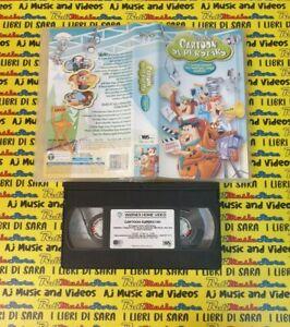 VHS film CARTOON SUPERSTARS 2002 flintstones jetson scooby doo yogi(F256) no dvd