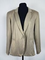 Style Co Womens Size Large Blazer Stretch Unlined Single Button Gold Work Jacket