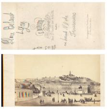E. Morier, France, Lyon Place Bellecour CDV vintage albumen carte de visite,