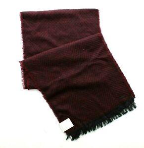Calvin Klein Scarf Men's CK Soft Chevron Neck Winter Wrap, Burgundy, $55