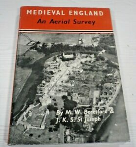 Medieval England : An Aerial Survey Hardcover M. W. Beresford 1958 1st Edition