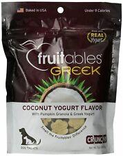 Fruitables Pet Food Greek Coconut Crunchy Dog Treats 7 ounce Pouch