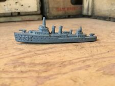 Vintage Tootsie Toy Chicago Metal Wwi Ww2 Destroyer Ship K880 Boat Toy