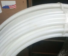 """3/4"""" Hula Hoop Tubing with Connectors Natural Colored Hdpe Coil 500 Feet"""