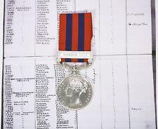 Victoria India General Service Medal Hazara 1888 1306 Pte.J.Furness North'd Fus
