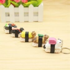 Sushi Food Cat Animal Fashion Jewelry Key Chain Handbag Accessories Key Ring