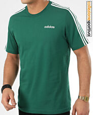 T-SHIRT UOMO/DONNA ADIDAS ESSENTIALS 3-STRIPES- FM6230 col. verde/bianco