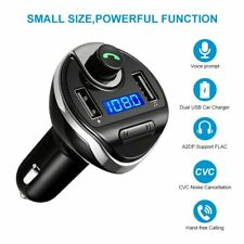 Hands-free Bluetooth Car Kit FM Transmitter MP3 Radio Adapter Dual USB Charger