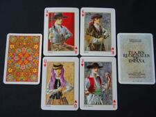 Vintage 1960s Playing Cards - Fournier Pack Deck - Regional Costumes of Spain