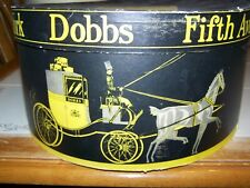 Vintage Dobbs 5th Avenue Ny Hat Box Horse & Carriage Storage Black Gold